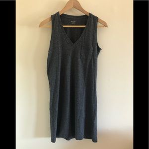 NWOT Madewell Grey sleeveless V-Neck tee dress